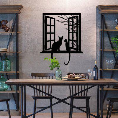 YEDUO Creative Window Wall Stickers Cat Animal Decals Bedroom Home Decor
