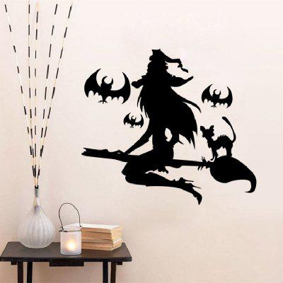 YEDUO Halloween Removable Wall Stickers Black Bats Witch Flying Home Window DecalWall Stickers<br>YEDUO Halloween Removable Wall Stickers Black Bats Witch Flying Home Window Decal<br><br>Function: Decorative Wall Sticker<br>Material: Vinyl(PVC)<br>Package Contents: 1 x Wall Sticker<br>Package size (L x W x H): 42.00 x 5.00 x 5.00 cm / 16.54 x 1.97 x 1.97 inches<br>Package weight: 0.1000 kg<br>Product size (L x W x H): 52.00 x 42.00 x 0.30 cm / 20.47 x 16.54 x 0.12 inches<br>Product weight: 0.0800 kg<br>Quantity: 1<br>Subjects: Abstract,Vintage<br>Suitable Space: Bedroom,Cafes,Living Room<br>Type: Plane Wall Sticker
