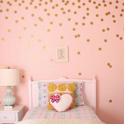 YEDUO 54 Gold Polka Dots Wall Sticker Baby Nursery Stickers Children Room Decals Home Decor DIY Vinyl Art 4cm
