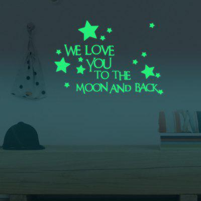YEDUO Creative Fluorescence Alphabetical Stars Luminous Paste Diy Wall Stickers Childrens Home DecorationWall Stickers<br>YEDUO Creative Fluorescence Alphabetical Stars Luminous Paste Diy Wall Stickers Childrens Home Decoration<br><br>Function: Decorative Wall Sticker<br>Material: Vinyl(PVC)<br>Package Contents: 1 x Wall Sticker<br>Package size (L x W x H): 30.00 x 20.00 x 0.30 cm / 11.81 x 7.87 x 0.12 inches<br>Package weight: 0.0300 kg<br>Product size (L x W x H): 30.00 x 20.00 x 0.30 cm / 11.81 x 7.87 x 0.12 inches<br>Product weight: 0.0200 kg<br>Quantity: 1<br>Subjects: Letter<br>Suitable Space: Bedroom,Boys Room,Girls Room,Kids Room,Study Room / Office<br>Type: Plane Wall Sticker