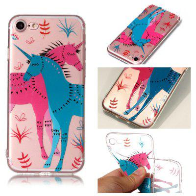 Para Unicorn rzep Relief TPU Phone Case for iPhone 7