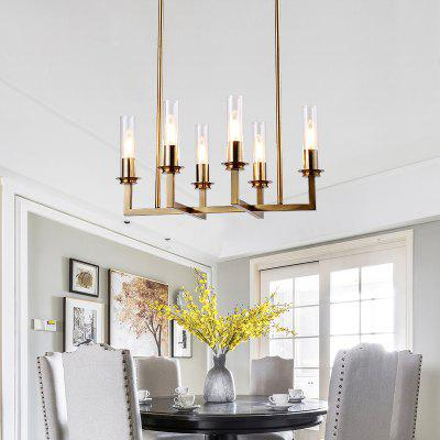 Buy COPPER COLOR ZGPAX American Iron Creative 6 Chandelier 110V 220V for $272.99 in GearBest store