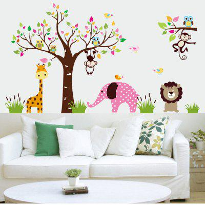 Cartoon Elephant Monkey Lion Wall Sticker for Kids RoomsWall Stickers<br>Cartoon Elephant Monkey Lion Wall Sticker for Kids Rooms<br><br>Art Style: Plane Wall Stickers, Toilet Stickers<br>Artists: Others<br>Brand: DSU<br>Color Scheme: Others<br>Effect Size (L x W): 185 x 105cm<br>Features: Bedroom Material?Vinyl Type ?Plane Wall stciker Function?Plane Wall Sticker,  Dining Room, Style? Modern Subjects?Cartoon PictureQuantity?1PCS  Scenarios?WallSuggested Space Fit?Kitchen<br>Function: Decorative Wall Sticker<br>Layout Size (L x W): 4 x 90 x 30cm<br>Material: Plastic<br>Package Contents: 4 x Wall Sticker<br>Package size (L x W x H): 65.00 x 7.00 x 7.00 cm / 25.59 x 2.76 x 2.76 inches<br>Package weight: 0.3500 kg<br>Product size (L x W x H): 120.00 x 90.00 x 0.10 cm / 47.24 x 35.43 x 0.04 inches<br>Product weight: 0.3000 kg<br>Quantity: 1<br>Subjects: Cartoon<br>Suitable Space: Bedroom,Boys Room,Cafes,Dining Room,Game Room,Girls Room,Kids Room,Kids Room,Kitchen,Living Room,Study Room / Office<br>Type: Plane Wall Sticker
