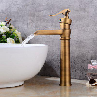 Antique Centerset Widespread Rotatable Pre Rinse with Ceramic Valve Single Handle One Hole for Antique Copper Bathroom S