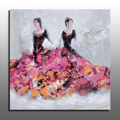Buy COLORMIX Macroart Hand-Painted People Modern Abstract Oil Painting Hand Painted Figure Painting Two Women in Dress Unframed Abstract Art Oil Painting for Home Decor for $60.50 in GearBest store