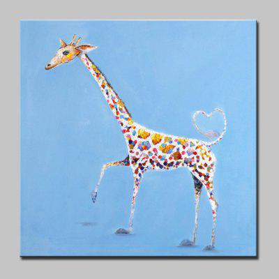 Buy COLORMIX Mintura Hand Painted Giraffe Animal Oil Painting On Canvas Modern Abstract Wall Art Picture For Home Decor No Frame for $42.99 in GearBest store