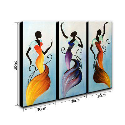 YHHP 3 PCS Oil Painting Modern Style Canvas Abstract Figures DecorationOil Paintings<br>YHHP 3 PCS Oil Painting Modern Style Canvas Abstract Figures Decoration<br><br>Brand: YHHP<br>Craft: Oil Painting<br>Form: One Panel<br>Material: Canvas<br>Package Contents: 1 x Painting<br>Package size (L x W x H): 92.00 x 32.00 x 15.00 cm / 36.22 x 12.6 x 5.91 inches<br>Package weight: 2.4000 kg<br>Painting: Include Inner Frame<br>Product size (L x W x H): 90.00 x 30.00 x 12.00 cm / 35.43 x 11.81 x 4.72 inches<br>Product weight: 2.0000 kg<br>Shape: Vertical<br>Style: Chic &amp; Modern<br>Subjects: People<br>Suitable Space: Bedroom,Kids Room,Living Room,Office