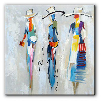 Yhhp hand painted modern abstract people oil painting on for Best way to sell paintings online