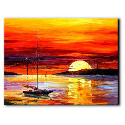 Buy MANDARIN YHHP Abstract Sunset Seascape Canvas Oil Painting for Home Decoration for $43.69 in GearBest store
