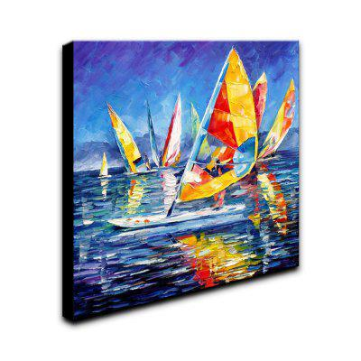 YHHP Hand-Painted Abstract Sailing One Panel Canvas Oil Painting for Home DecorationOil Paintings<br>YHHP Hand-Painted Abstract Sailing One Panel Canvas Oil Painting for Home Decoration<br><br>Brand: YHHP<br>Craft: Oil Painting<br>Form: One Panel<br>Material: Canvas<br>Package Contents: 1 x Panel of Oil Painting<br>Package size (L x W x H): 62.00 x 62.00 x 5.00 cm / 24.41 x 24.41 x 1.97 inches<br>Package weight: 1.7000 kg<br>Painting: Include Inner Frame<br>Product size (L x W x H): 60.00 x 60.00 x 3.00 cm / 23.62 x 23.62 x 1.18 inches<br>Product weight: 0.7500 kg<br>Shape: Square<br>Style: Casual<br>Subjects: Landscape<br>Suitable Space: Living Room,Bedroom,Office,Study Room / Office