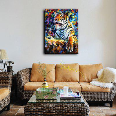 Buy COLORMIX YHHP Hand-Painted Tiger One Panel Canvas Wall Art Decor Oil Painting for $38.94 in GearBest store