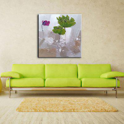 Buy WHITE AND GREEN 80X80CM YHHP Hand Painted Oil Painting Modern Abstract Flowers Wall Art with Stretched Framed Ready to Hang for $64.36 in GearBest store