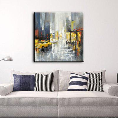 YHHP Hand Painted Oil Painting Abstract Modern Street View