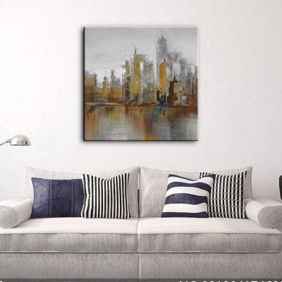 YHHP Hand Painted Oil Painting Abstract Modern Building