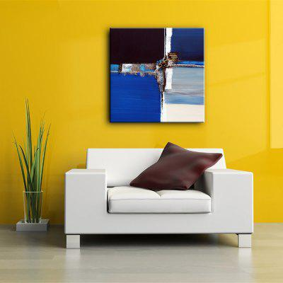Buy BLUE AND BLACK 60X60CM YHHP Hand-Painted Modern Abstract Decorative Canvas Oil Painting for $44.68 in GearBest store
