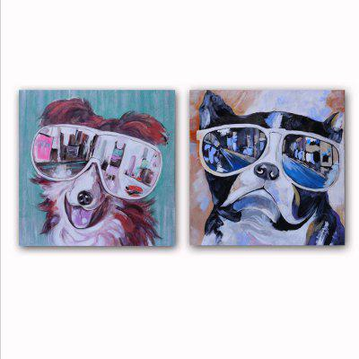 HAPPYART Canvas Print Painting Modern Colorful Animals Dogs Home Decoration / Wall Art