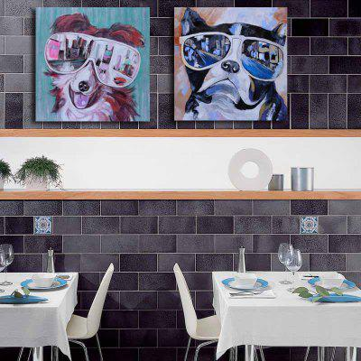 HAPPYART Canvas Print Painting Modern Colorful Animals Dogs Home Decoration / Wall ArtPrints<br>HAPPYART Canvas Print Painting Modern Colorful Animals Dogs Home Decoration / Wall Art<br><br>Craft: Oil Painting<br>Form: Two Panels<br>Material: Canvas<br>Package Contents: 2 x Print<br>Package size (L x W x H): 80.00 x 7.00 x 7.00 cm / 31.5 x 2.76 x 2.76 inches<br>Package weight: 0.9500 kg<br>Painting: Without Inner Frame<br>Product size (L x W x H): 80.00 x 0.20 x 80.00 cm / 31.5 x 0.08 x 31.5 inches<br>Product weight: 0.6000 kg<br>Shape: Square<br>Style: Novelty<br>Subjects: Animal<br>Suitable Space: Bedroom,Boys Room,Cafes,Dining Room,Girls Room,Hotel,Kids Room,Kids Room,Living Room,Office,Study Room / Office