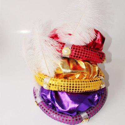 MCYH Adult Children Party Hat with Feather Show Halloween PartyHalloween Supplies<br>MCYH Adult Children Party Hat with Feather Show Halloween Party<br><br>Color: Gold,Purple,Red<br>For: All<br>Material: Acrylic<br>Package Contents: 1 x Hat with Feather<br>Package size (L x W x H): 20.00 x 15.00 x 6.00 cm / 7.87 x 5.91 x 2.36 inches<br>Package weight: 0.2000 kg<br>Product weight: 0.1500 kg<br>Usage: Party, Performance, Halloween, Easter, Stage