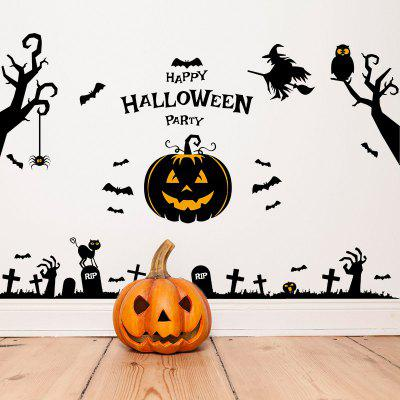 MCYH Halloween Pumpkins Wall Stickers