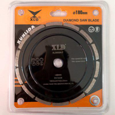 XLD Diamond Cold-pressed Segmented Saw Blade , Grade A?7 Inch,Dry Use For Cutting Building MaterialsGarden Decking<br>XLD Diamond Cold-pressed Segmented Saw Blade , Grade A?7 Inch,Dry Use For Cutting Building Materials<br><br>Color: Black<br>Material: Metal<br>Package Contents: Blister pack ?saw blade 1, gasket 1