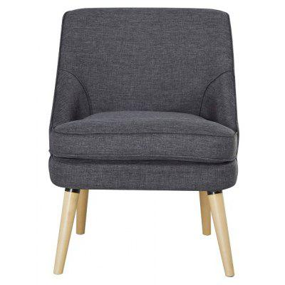 Single Chair in Dark Gray with Nature Wooden Feet - Only Deliver to Germany / Support Local Delivery and After-sales Service
