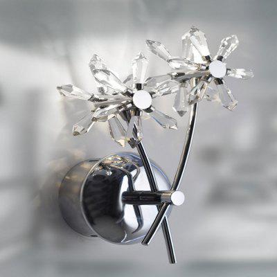 Crystal Wall Light with 2 Lights - Floral ShadeWall Lights<br>Crystal Wall Light with 2 Lights - Floral Shade<br><br>Bulb Base: G4<br>Bulb Included: No<br>Color Temperature or Wavelength: 3000K<br>Decoration Material: Crystal,Metal<br>Fixture Material: Crystal,Metal<br>Light Direction: Uplight<br>Light Source Color: Warm White<br>Number of Bulbs: 2<br>Overall Depth ( CM ): 20<br>Overall Height ( CM ): 32<br>Overall Width ( CM ): 10<br>Package Contents: 1 x Wall Light<br>Package size (L x W x H): 32.00 x 10.00 x 20.00 cm / 12.6 x 3.94 x 7.87 inches<br>Package weight: 1.0300 kg<br>Power Supply: 100-240V<br>Product size (L x W x H): 17.00 x 25.00 x 8.00 cm / 6.69 x 9.84 x 3.15 inches<br>Product weight: 0.8000 kg<br>Selling Point: Crystal,LED<br>Shade Material: Crystal, Metal<br>Style: Novelty, Rustic Lodge, Simple, Crystal, Traditional Classic, Vintage<br>Suggested Room Size: 30 - 40 Square Meters<br>Switch Type: Others<br>Type: Wall Sconces<br>Voltage: 110-220V<br>Wattage: 20W<br>Wattage per Bulb ( W ): 20