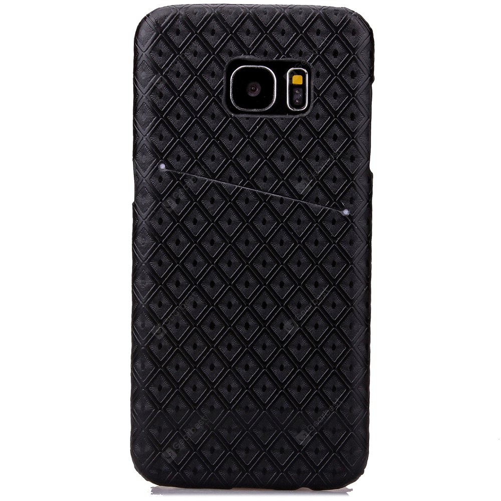 Diamond Small Check PU Leather  Stick Mobile Phone Shell for Samsung S7 Edge