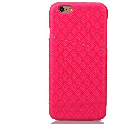 Diamond Small Check PU Leather Stick Mobile Phone Shell for iPhone 6S Plus
