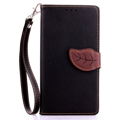 Buy BLACK Love Leaf Card Lanyard Pu Leather for LG G4 for $5.93 in GearBest store