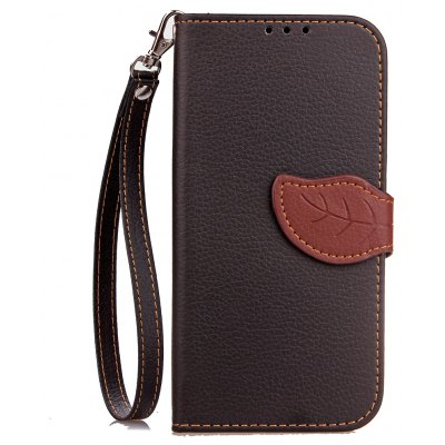 Buy BLACK Love Leaf Card Lanyard Pu Leather for HTC M8 for $6.07 in GearBest store