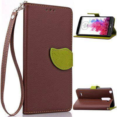 Buy BROWN Love Leaf Card Lanyard Pu Leather for LG G3Stylus for $6.00 in GearBest store