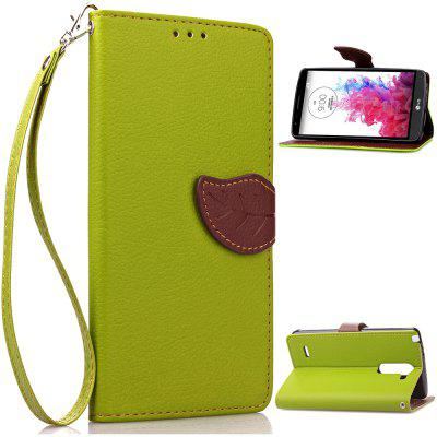 Buy GREEN Love Leaf Card Lanyard Pu Leather for LG G3Stylus for $6.00 in GearBest store