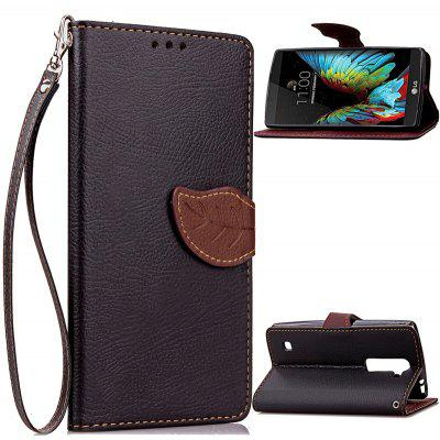 Buy BLACK Love Leaf Card Lanyard Pu Leather for LG K10 for $5.93 in GearBest store