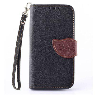 Buy BLACK Love Leaf Card Lanyard Pu Leather for LG L90 for $5.79 in GearBest store