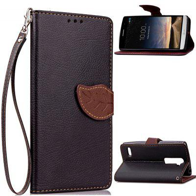 Buy BLACK Love Leaf Card Lanyard Pu Leather for LG RAY for $5.93 in GearBest store