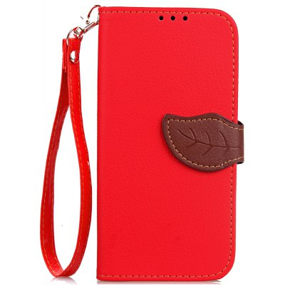 Buy RED Love Leaf Card Lanyard Pu Leather for OPPO A57 for $6.07 in GearBest store