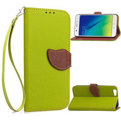 Buy GREEN Love Leaf Card Lanyard Pu Leather for	OPPO A39 for $6.07 in GearBest store