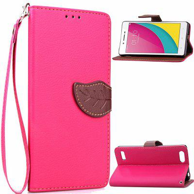 Buy ROSE RED Love Leaf Card Lanyard Pu Leather for OPPO A33 for $5.93 in GearBest store
