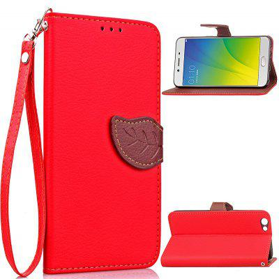 Buy RED Love Leaf Card Lanyard Pu Leather for OPPO R9S PLUS for $6.20 in GearBest store