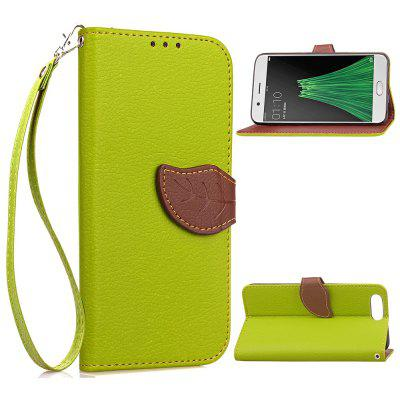 Buy GREEN Love Leaf Card Lanyard Pu Leather for OPPO R11 PLUS for $6.20 in GearBest store