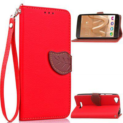 Buy RED Love Leaf Card Lanyard Pu Leather for Viko Lenny3 MAX for $5.93 in GearBest store