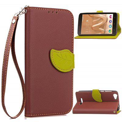 Buy BROWN Love Leaf Card Lanyard Pu Leather for Viko Lenny3 MAX for $5.93 in GearBest store