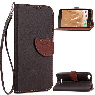 Buy BLACK Love Leaf Card Lanyard Pu Leather for Viko Lenny3 MAX for $5.93 in GearBest store