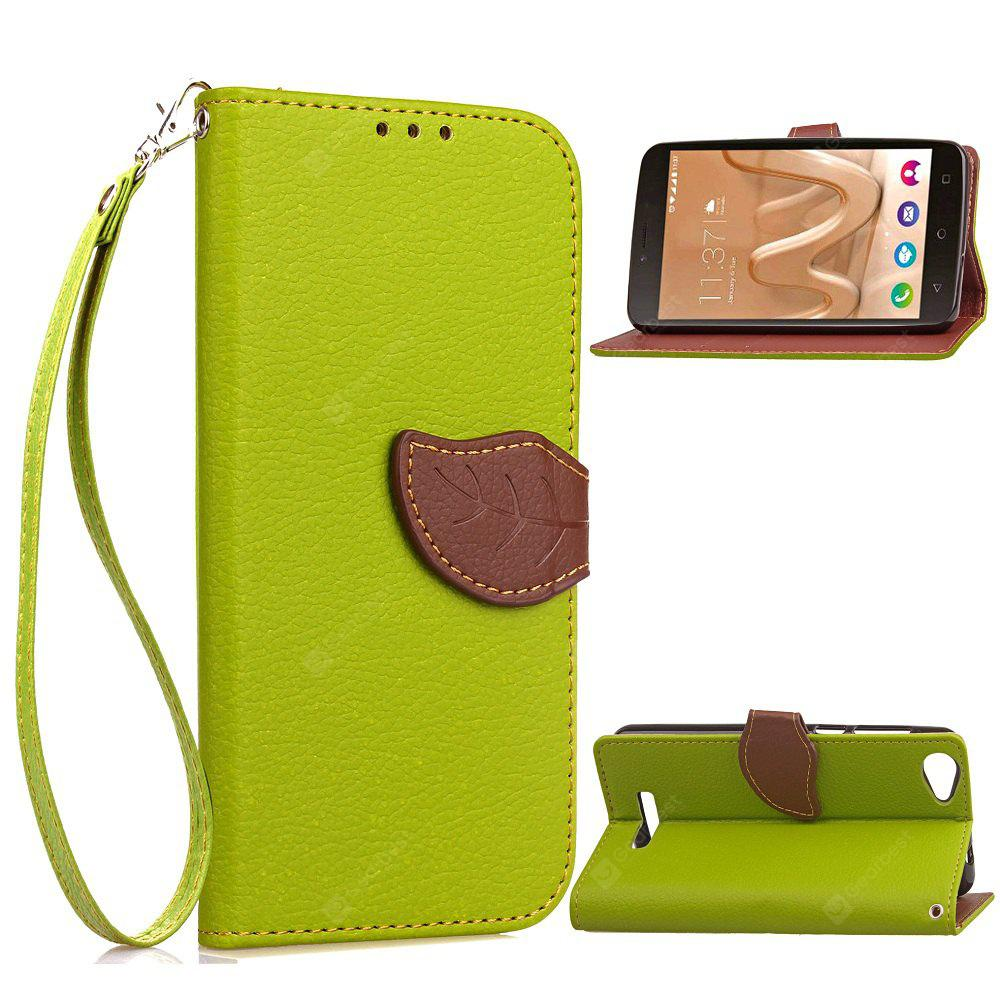 GREEN Love Leaf Card Lanyard Pu Leather for Viko Lenny3 MAX