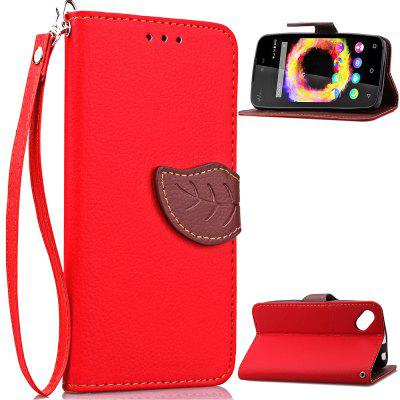 Buy RED Love Leaf Card Lanyard Pu Leather for Viko SUNSET2 for $6.07 in GearBest store
