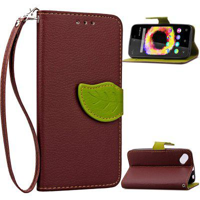Buy BROWN Love Leaf Card Lanyard Pu Leather for Viko SUNSET2 for $6.07 in GearBest store