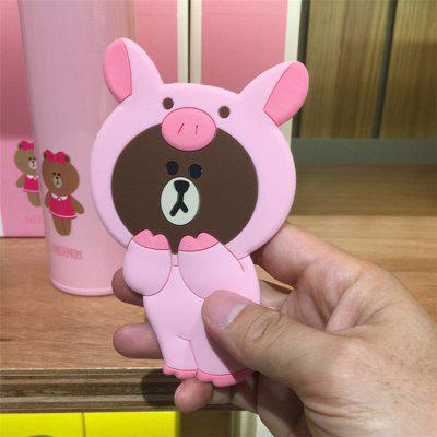 3D Cartoon Silicone Dinosaur Bear Pig Portable Travel Cosmetic Makeup MirrorOther Sports Gadgets<br>3D Cartoon Silicone Dinosaur Bear Pig Portable Travel Cosmetic Makeup Mirror<br><br>Package Contents: 1 x Mirror<br>Package size (L x W x H): 13.00 x 8.00 x 0.50 cm / 5.12 x 3.15 x 0.2 inches<br>Package weight: 0.0490 kg<br>Product size (L x W x H): 12.00 x 7.50 x 0.40 cm / 4.72 x 2.95 x 0.16 inches<br>Product weight: 0.0480 kg