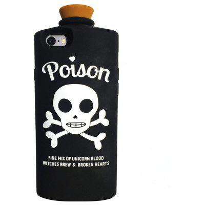 Poison Black Silicon Gel Rubber Cartoon Case Cover Skin for iPhone 6 / 6S