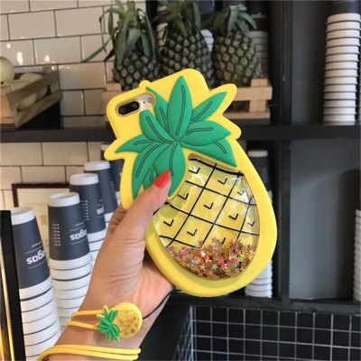 Flowing Star Paillette Pineapple Soft Case with Strap for iPhone 6 Plus / 6s PlusiPhone Cases/Covers<br>Flowing Star Paillette Pineapple Soft Case with Strap for iPhone 6 Plus / 6s Plus<br><br>Features: Anti-knock, Dirt-resistant, With Lanyard<br>Material: Silicone<br>Package Contents: 1 x Case<br>Package size (L x W x H): 19.00 x 10.00 x 1.50 cm / 7.48 x 3.94 x 0.59 inches<br>Package weight: 0.1500 kg<br>Product size (L x W x H): 18.00 x 9.00 x 1.00 cm / 7.09 x 3.54 x 0.39 inches<br>Product weight: 0.1400 kg<br>Style: Fruits Pattern