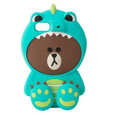 Buy GREEN 3D Cute Dinosaur Bear Cartoon Kawaii Soft Silicone Case for iPhone 6 / 6S for $8.43 in GearBest store